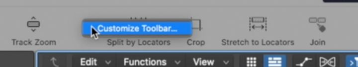 Personalizzare toolbar in logic