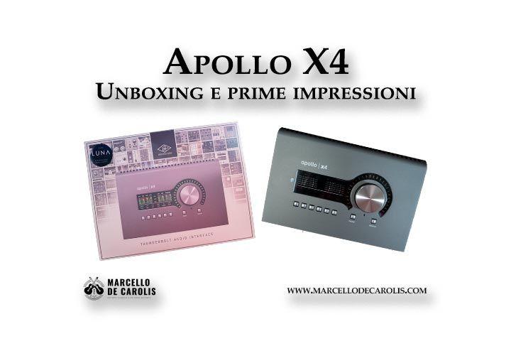 Apollo x4 unboxing e prime impressioni
