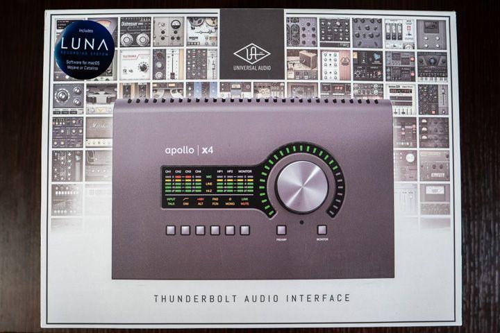 La scatola della Apollo x4 di Universal Audio