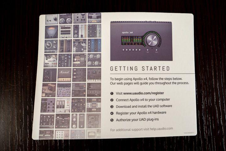 Il getting started di Universal audio