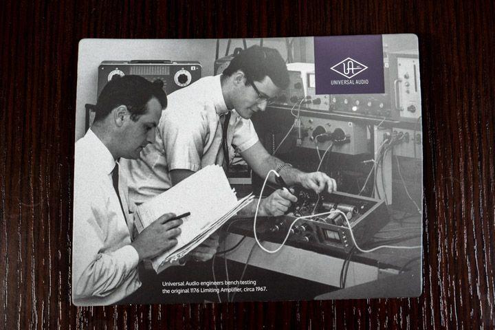 Gli ingegneri del suono di Universal Audio a lavoro su 1176