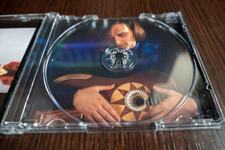 interno disco di Marcello De Carolis chitarra battente