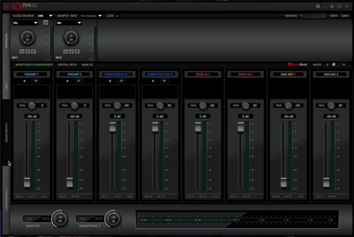 zengosc software di gestione scheda audio antelope