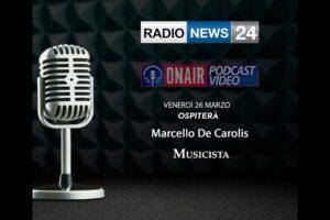 Radio news 24 chitarra battente Marcello De Carolis