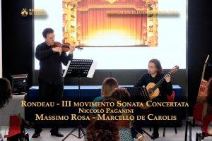 Rondeau sonata concertata chitarra e violino Niccolò Paganini