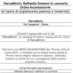 Raffaello Simeoni concerto Roma Ponte Milvio 2021