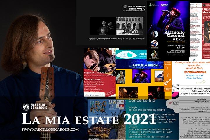 La mia estate 2021 concerti di chitarra Marcello De Carolis
