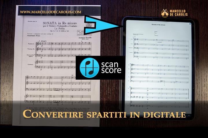 Trasformare spartiti in digitale ScanScore